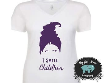 Hocus Pocus Shirt, I smell Children, Winnie Sanderson, Funny Hocus Pocus, Shirt, Tank, V Neck, Halloween Shirt, Fall Shirt