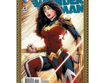 WONDER WOMAN #41 - August - 2015, Balance, Dynamic Comics Art Cover Painting, Oil on Canvas