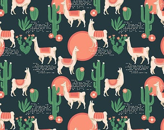 Lingering Llamas Sedon from Florabelle collection 112cm wide x 25cm