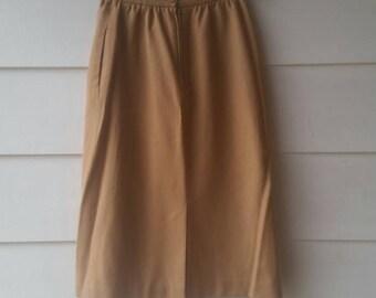Vintage Tan Skirt || John Weitz || Mad Men
