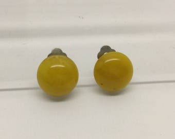 Russian butterscotch amber earrings #319