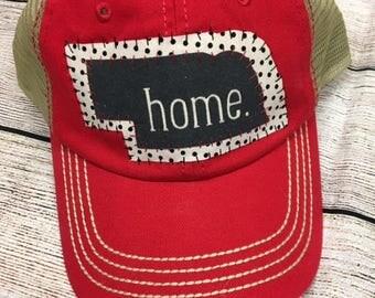 Nebraska state home trucker hat
