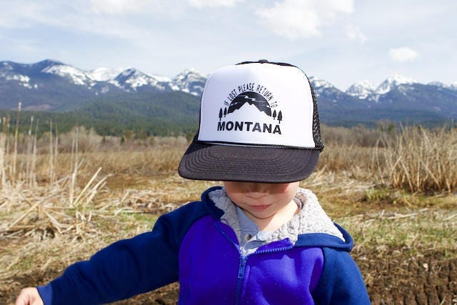 If Lost Please Return to Montana - (2 color options) Trucker