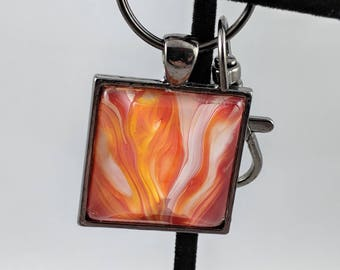 "1"" Square Keychain - O2"