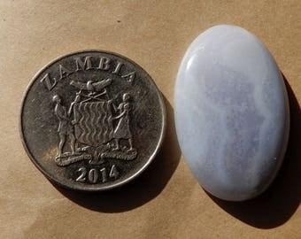 Blue Lace Agate Cabochon Oval Cabochon 30x20x5 MM Size Natural Cabochon 28.25ct Semi Precious Gemstone Oval Shape Loose GEmstone BL14