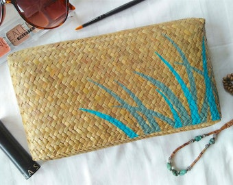 Grass Clutch/Purse/Case - Hand woven & painted - Blades of Grass