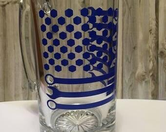 American Flag Nut and Wrench Beer Mug
