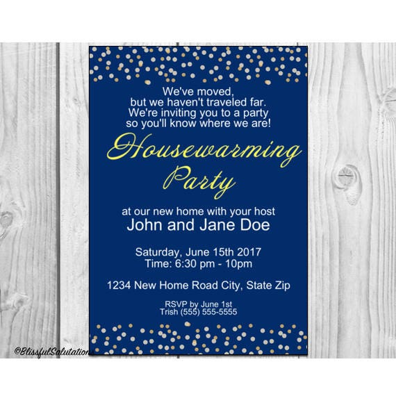 Housewarming Party Invitation Housewarming Party New Home – Open House Party Invitation