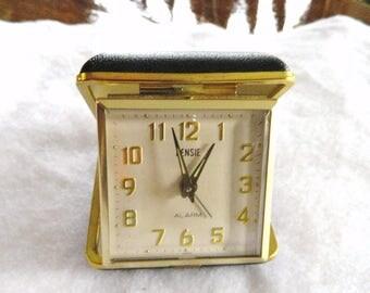 alarm clock travel old vintage wind up rensie