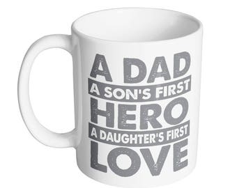 Dad Hero Love Coffee Mug
