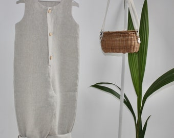 Natural Linen luxury Overalls