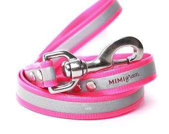 Pink Reflective Waterproof Dog Leash - Pink Smell Resistant Dog Leash - Pink Training Dog Leash - Pink Safety Dog Leash - Pink Dog Lead