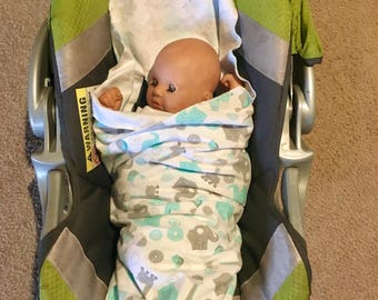 Made-to-Order Light-Weight Car Seat Swaddling Blanket