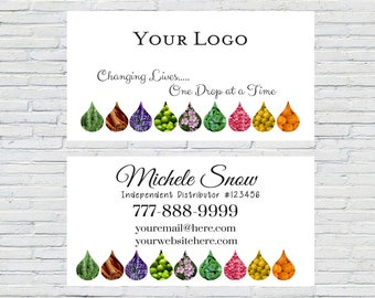 Oil Drop Business Card, Essential Oils Card, Printable, Download, YL Business Card, Digital File, Essential Oil, Design, Independent