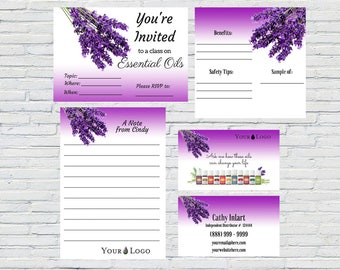 Lilac Essential Oils Distributor Kit, Download, Printable, Personalized, Marketing Kit, Customer Information, Business Card, Small Business
