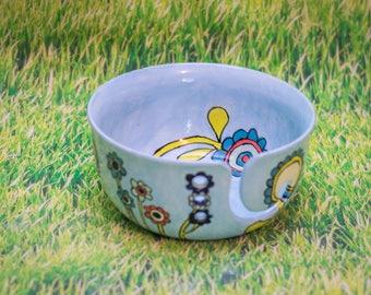 Bright Flowers Yarn Bowl