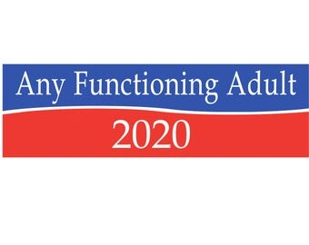 Any Functioning Adult Bumper Sticker