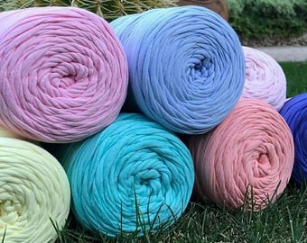T-shirt 5-10-20 meters yarn, Recyled Fabryc yarn, home textile yarn, crochet yarn, basket yarn, fabric yarn, bag yarn
