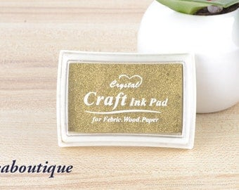 Ink stamp, gold color, perfect for black papers