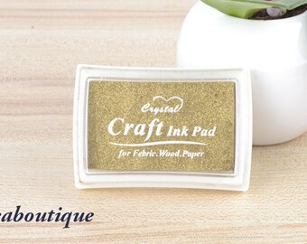Ink Pads/Rubber Stamp/ scrapbooking/golden color/Ideal for black papers
