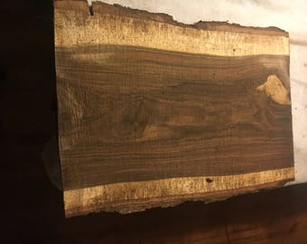 "Walnut Slab Table Top Etc. Aprox 28.5"" x 20"" x 1.5"""