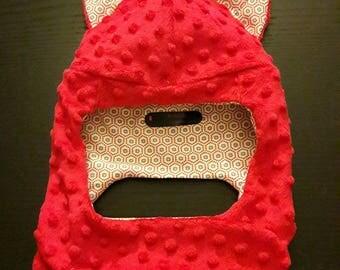"Cap with built-in scarf ""Cat"""