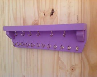 Wall Rack,key holder,leash holder,jewelry display,jewelry rack,jewelry organizer,necklace holder,necklace display,necklace organizer,