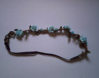 "headband ""wreath of blue flowers"""