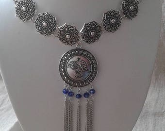 """necklace """"the silver and blue beads"""""""