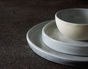 Dinner Plate Sak Collection Gray (4 piece set)