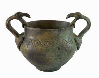 Bronze griffin handle vessel ancient Greek reproduction artifact