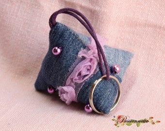 Berlingot jean Keyring, handmade