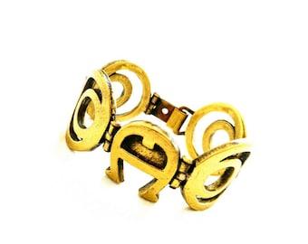 AiGnEr bracelet VinTage 70s 80s bracelet design FasHion 70s 80s jewelry