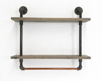 Wall Shelf - Shelf Brackets - Bathroom Shelf - Floating Shelves - Floating Shelf - Industrial Shelf - Rustic Home Decor - Kitchen Shelf
