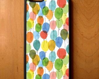 Festive Celebration Balloons Print Phone Case Samsung Galaxy S6 S7 S8 Note Edge Apple iPhone 4 5 5S 5C 6 6S 7 SE Plus + G3 skin snap rubber