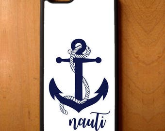 Nauti Nautical Anchor Rope Phone Case Cover Samsung Galaxy S6 S7 S8 Note Edge Apple iPhone 4 5 5S 5C 6 6S 7 SE Plus + LG G3 skin snap rubber