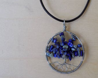 Tree of Life Pendant - Lapis Lazuli tree of life necklace - Lapis Lazuli Jewelry - Handmade Wire Wrapped Gifts for Her - Heady Wire Wraps