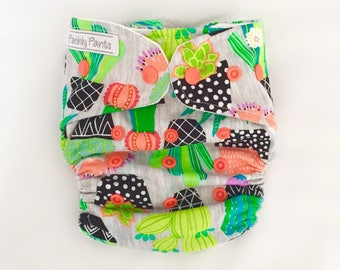 MCN Modern Cloth Nappy - Prickly Pots