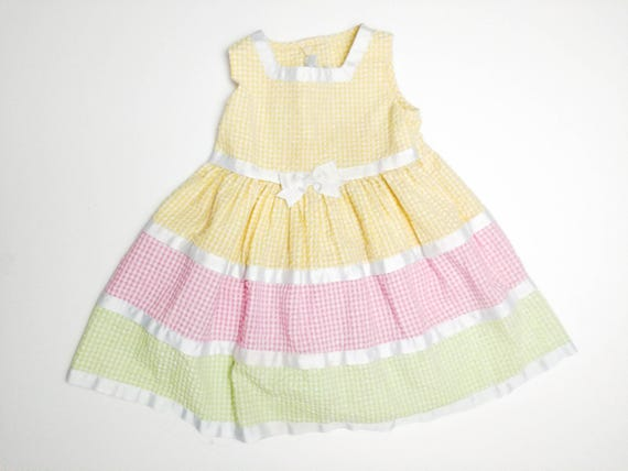 Pastel yellow toddler dress