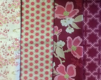 set of 4 MODERN MEADOW JOEL DEWBERRY PATCHWORK fabrics