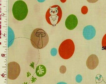 fabric patchwork kids DAY AT THE ZOO DOTS CAMELOT Fabric coupon