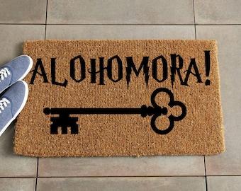 Alohomora Doormat/Harry Potter Doormat/Harry Potter Decor/Custom Doormat/Custom Welcome Mat/Personalized Doormat/Door Mat/Coir doormat