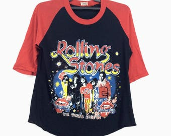 RARE!! Vintage 80s Rolling Stones U.S Tour 1981 82 Tatto You Made In Pakistan English Rock Band Mick Jagger Keith Richards Charlie Watts