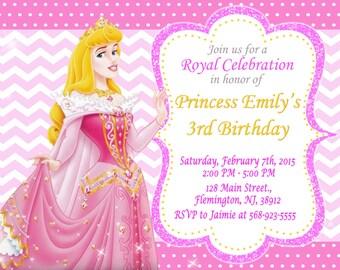 Sleeping Beauty Princess Aurora Invitation Birthday Party