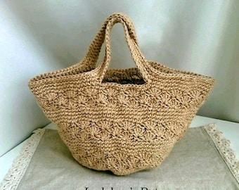 Hemp Marche bag round bottomed pine knitting pattern L