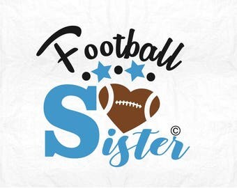 american football sister SVG Clipart Cut Files Silhouette Cameo Svg for Cricut and Vinyl File cutting Digital cuts file DXF Png Pdf Eps