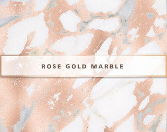 Rose Gold Marble Digital Paper, Rose Gold Digital Paper, Rose Gold Marble Texture, Digital Paper Pack, Rose Gold Marble Wallpaper, Marble