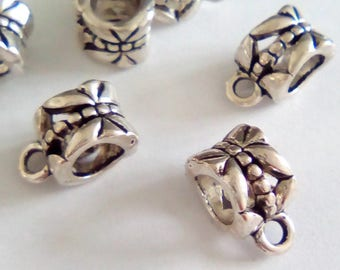 5 11 silver plated bails, 5x7mm