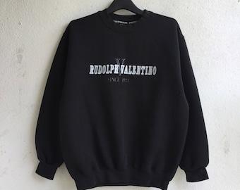Rare!! Rudolph valentino sweatshirt / valentino sweatshirt / embroidery logo /pullover / jumper / size medium