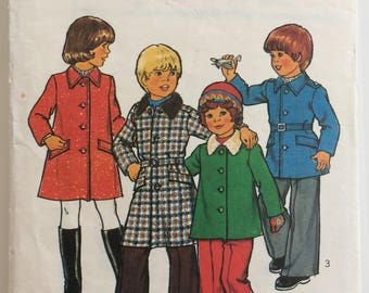 Style vintage sewing pattern 1723 - child's coat or jacket - size 4